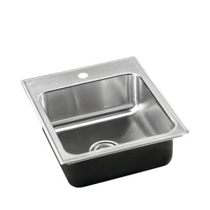 Just Manufacturing Single Hole Single Bowl Stainless Steel Sink JSLADA1617A165DCC