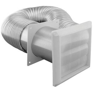 Jones Stephens 4 in. X 8 ft. Aluminum Dryer Vent Kit JD04009