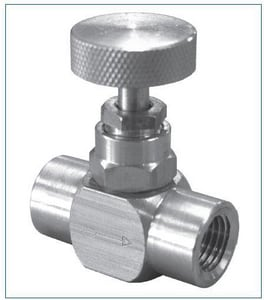 FNW 1/4 NPT in. Female Brass 600# Needle Valve FNWBNVB