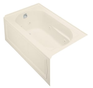 Kohler Devonshire® 60 x 32 in. Alcove Whirlpool Tub with Integral Apron and Left Hand Drain K1357-LA