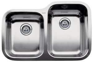 Blanco America Supreme™ 2-Bowl Stainless Steel Undermount Reversible Kitchen Sink B440235