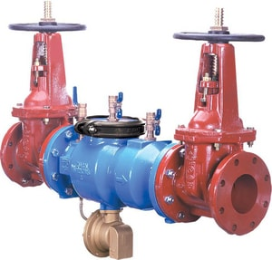 Wilkins Regulator Reduced Pressure Zone Backflow Preventer with Outside Stem and Yoke Gate Valve W375OSY