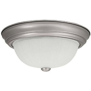 Capital Lighting Fixture 6 x 13 in. 60 W 2-Light Medium Flush Mount Ceiling Fixture with Acid Washed Glass C2413