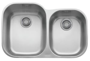 Franke Consumer Products Regatta 31-1/2 x 20-7/16 in. Double Bowl Undermount Kitchen Sink Stainless Steel FRGX160