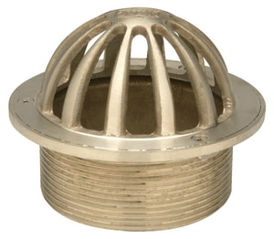 Zurn Industries Round Strainer with Dome Nickel Bronze ZZN4005G
