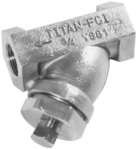 Titan Flow Control 600# Stainless Steel Threaded 1/16 Perforated Wye Strainer TYS81S0