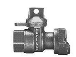 Mueller FIP x Meter Ball Valve with Lock Wing MB24351