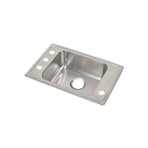 Elkay 1-Bowl Topmount Classroom Sink with Center Drain EDRKR2517