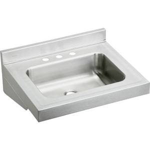 Elkay 22 x 19 in. 1 Bowl 3-Hole Lavatory Stainless Steel Sink EELV2219