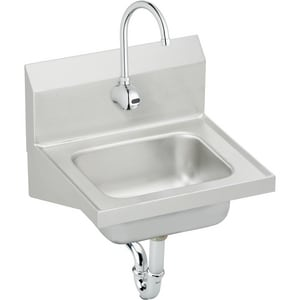 Elkay Sink & Sensor Faucet Package in Satin ECHS1716SACC