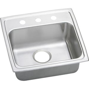 Elkay Gourmet Lustertone® 1-Bowl Topmount Kitchen Sink with Rear Center Drain ELRAD191965