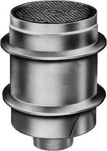 Jay R. Smith Manufacturing Twis-To-Floor® Spigot Flange Cleanout with Round Cast Iron Top S4250SNS