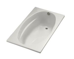Kohler Proflex® 18-1/8 x 60 x 36 in. 57 gal 3-Wall Alcove Bathtub with Right Hand Drain K1142-R