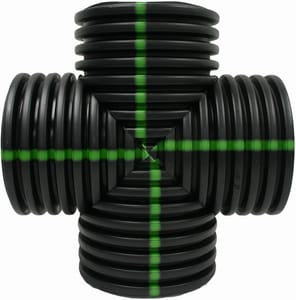 Advanced Drainage Systems N12 HDPE Fabricated Cross Tee A34AN