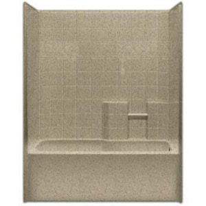 Aquarius Industries Millennia Collection 60 x 32-1/2 in. Tub and Shower with Left Hand Drain in White AM3360TSLWH