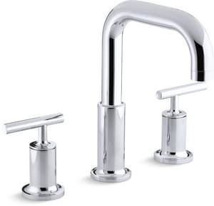 Kohler Purist® 3-Hole Double Lever Handle Deckmount Roman Tub Faucet KT14428-4