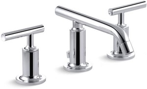 Kohler Purist® 3-Hole Widespread Bathroom Sink Faucet with Double Lever Handle K14410-4