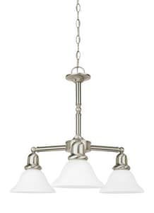 Seagull Lighting Sussex 100 W 3-Light Medium Chandelier with Satin White Glass S31060