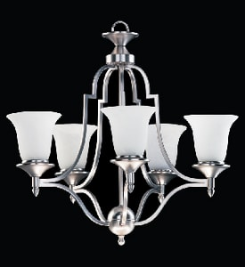 Quorum International Coventry 22-3/4 in. 60 W 5-Light Medium Chandelier Q6155
