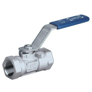Nibco 2000 psi Stainless Steel Threaded Reduced Port Ball Valve with Latch Lock Lever Handle NT560S6R66LL