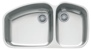 Franke Consumer Products Vision™ 2-Bowl Kitchen Sink in Stainless Steel FVNX12037