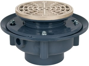 Sioux Chief Flashing Drain SCH40 Hub Connection Round Pattern Ring and Strainer S86345NR