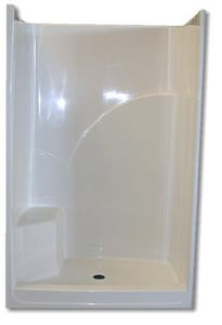 Spurlin Industries 74 x 34 in. Fiberglass Reinforced Shower Unit with Right Seat SF48SHWR