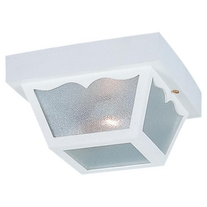 Seagull Lighting 5-1/2 x 10-1/4 in. 60 W 2-Light Medium Outdoor Semi-Flush Mount Ceiling Fixture S7569