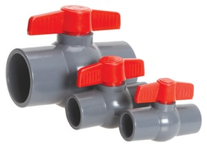 Hayward Industrial Products QV Series QIC2™ PVC Full Port Socket 150# Ball Valve HQV1TSE