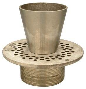 Zurn Type-E Round Strainer with Funnel Nickel Bronze ZZN4007E