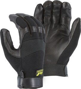 Majestic Glove Deerskin Mechanical Gloves in Black M2151T01