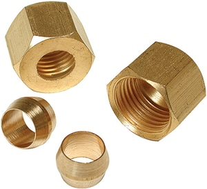 Compression Brass Nut D931