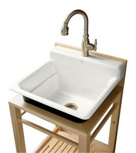 Kohler Bayview™ 26 x 24 in. Drop-In Sink in White K6608-1P