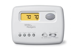 White Rodgers 70 Series 2 Heat 1 Cool 5 + 2 Day Programmable Digital Thermostat W1F72151