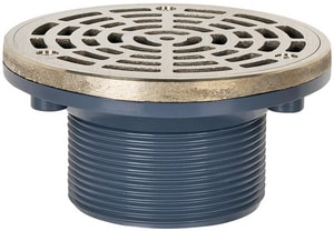 Sioux Chief On-Grade Adjustable Floor Drain ABS MIP Thread Round Ring and Strainer S842LNR