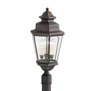 Kichler Lighting Savannah Estates 60W 120V Candelabra Outdoor Post Mount in Olde Bronze KK9931OZ