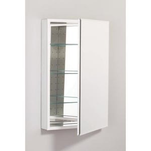 Robern PL Series 20 x 30 in. Single Door Plain Beveled Mirror Medicine Cabinet RPLM2030BB