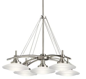 Kichler Lighting Structures 100W 5-Light Mini Candelabra E-11 Halogen Chandelier KK2055