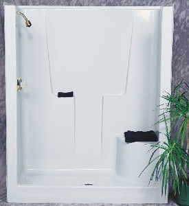 Bathcraft 60 x 36 in. Fiberglass Reinforced Plastic Shower with Left-Hand B6001LWH