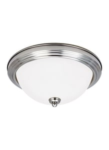 Seagull Lighting Sussex 6-1/2 x 14-1/2 in. 60 W 3-Light Medium Flush Mount Close-to-Ceiling Fixture S77065