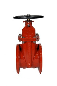 American Flow Control Ductile Iron Flange Open Left Resilient Wedge Gate Valve with Hand Wheel AFC25FFOLHW
