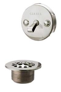 Gerber Plumbing 2 2-1/2 in. Trip Lever Tub Drain Kit Brushed Nickel GN6863