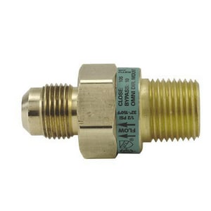 Brass Craft OD Flare x MIP Gas Safety Shut-Off Fitting BEU2812P