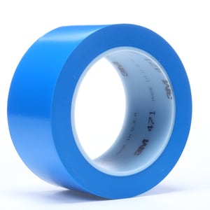 3M 2 in. x 36 yd. Vinyl Tape in Blue 3M02120004308