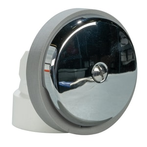 Weld-On 1-1/2 in. PVC Single Hole Lift Waste and Overflow Drain Less Pipe Plated Polished Chrome I62030