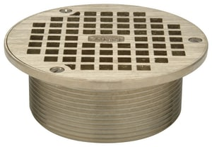 Zurn Industries Round Strainer Top Bronze ZZB4006B