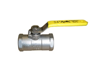Apollo Conbraco Stainless Steel Threaded Reduced Port Isolation Ball Valve with Locking Wheel Handle A9610839