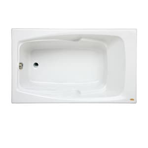 Jacuzzi Centra® 60 x 32 in. Acrylic Rectangle Drop-In or Skirted Bathtub with End Drain JCET6032BUXXXX