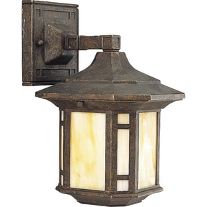 Progress Lighting Arts and Crafts 6-5/8 in. 100 W 1-Light Medium Lantern in Weathered Bronze PP562846
