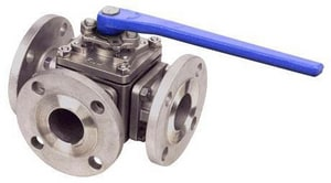 FNW Stainless Steel L-Port Flanged 150# Ball Valve FNW633